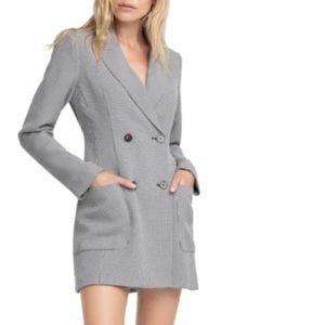 Gray blazer dress